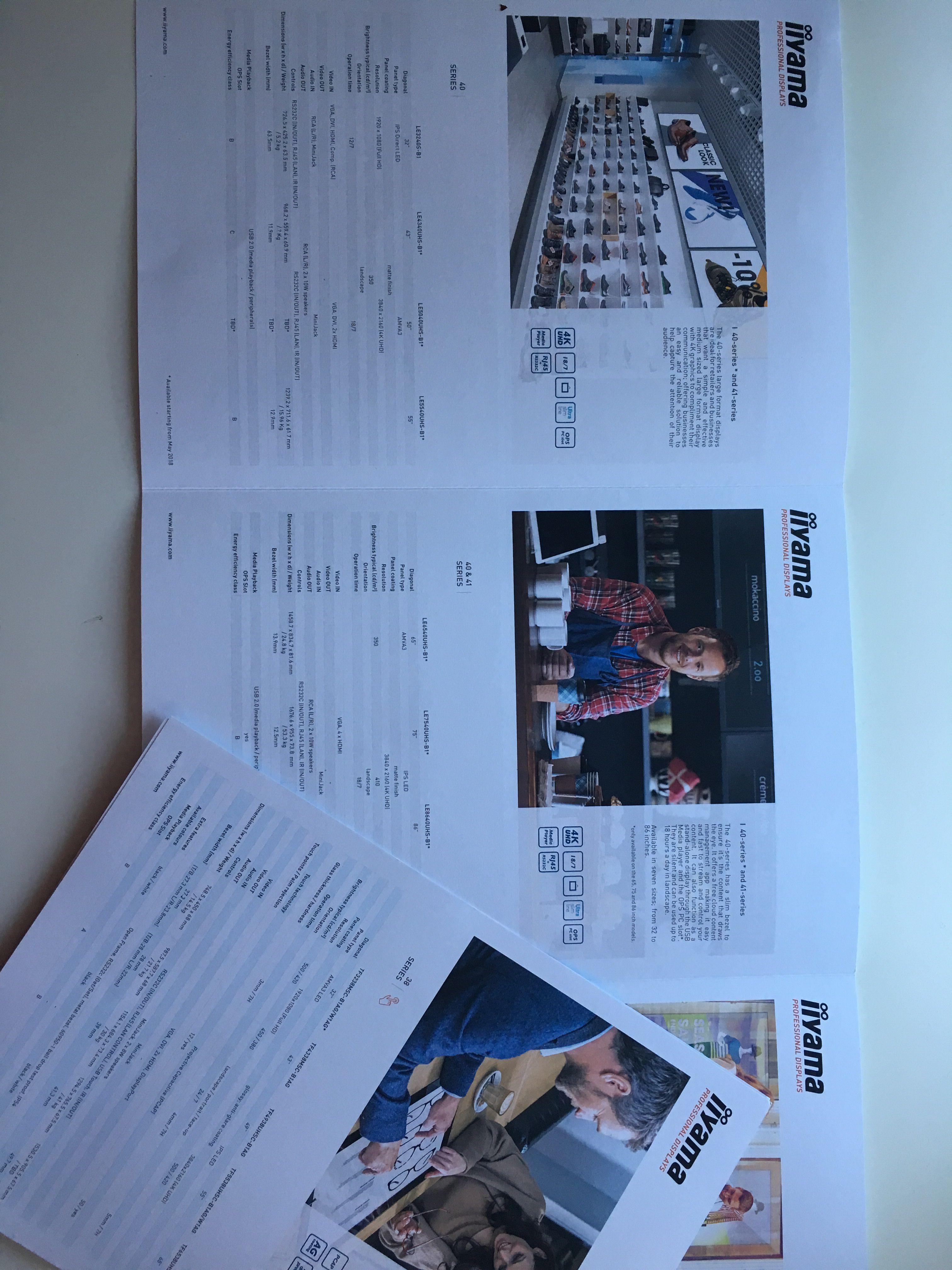 Coördinatie_Brochures Large Format Display voor iiyama