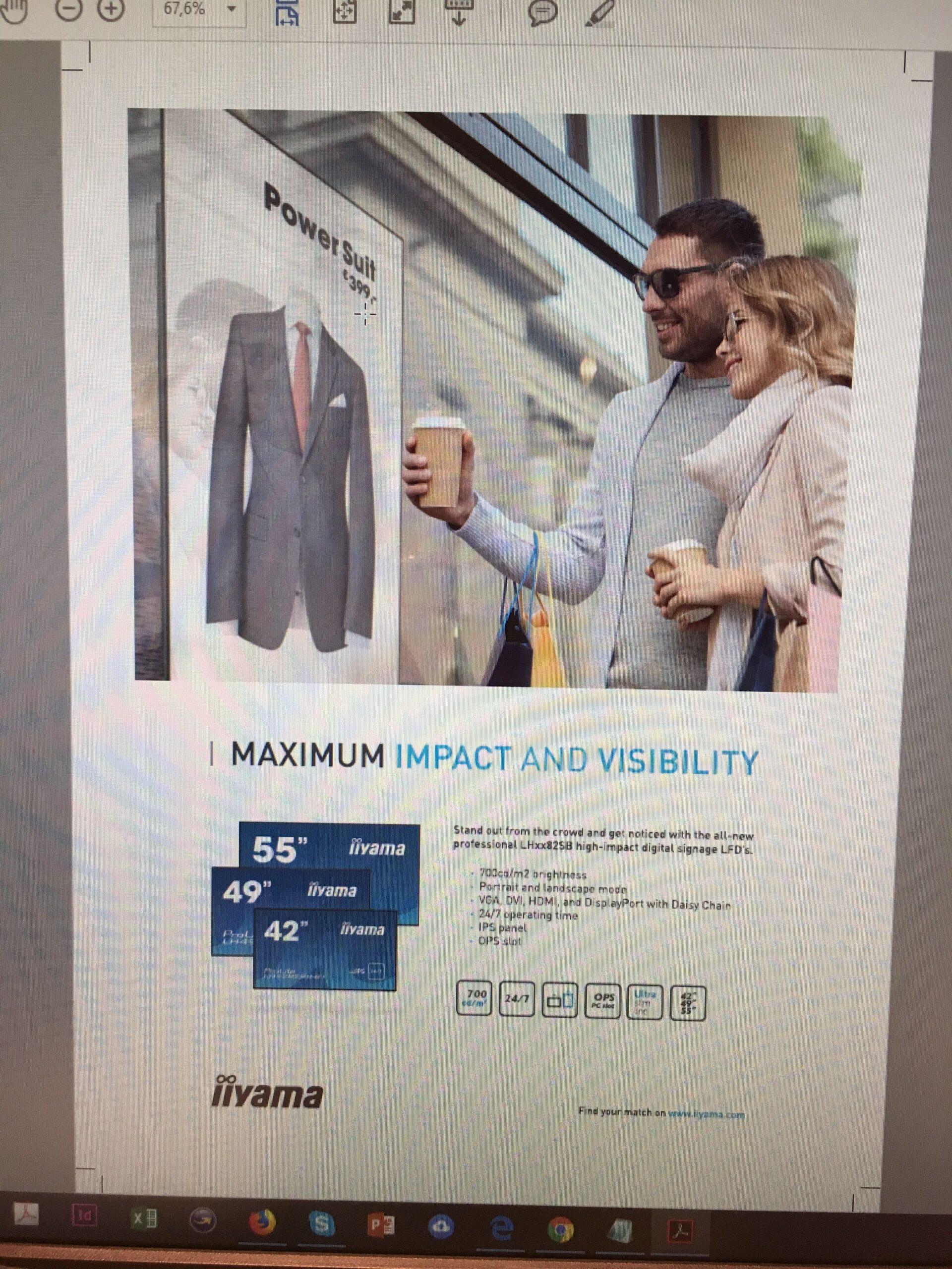 Print advertentie voor de digital signage modellen