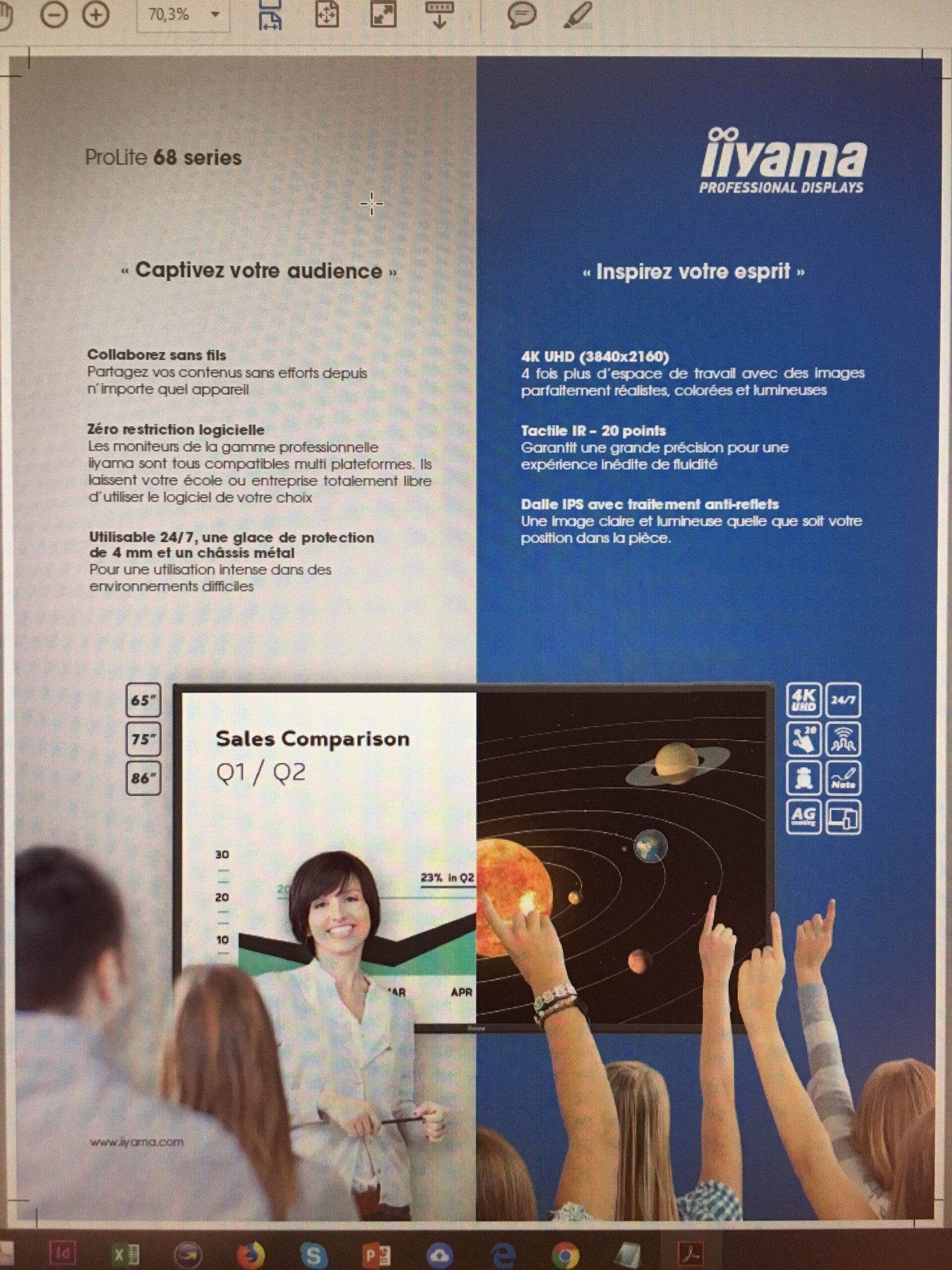 iiyama advertentie voor Interactieve large format displays