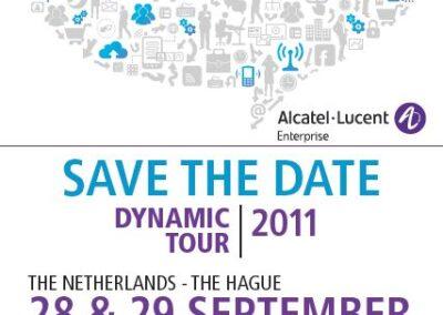 Flyer Dynamic Tour 2011 voor Alcatel-Lucent Enterprise
