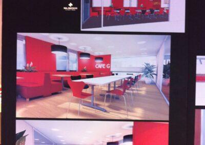 Ontwerp nieuwe lunchruimte Café G_Financiele EU hoofdkwartier Genesys