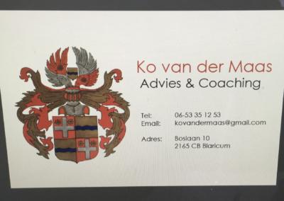 ontwerp visitekaartjes voor Van der Maas advies & coaching